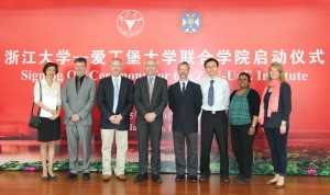 Some of the Edinburgh academics who will deliver the programme in China.