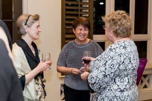 Audrey Kon (centre) at the reception in Singapore